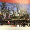 Танк Т-34, который стоит на постаменте в центре Иркутска
